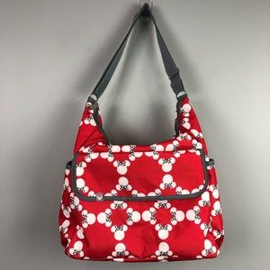 Disney Baby Minnie Mouse Diaper Bag Red Gray